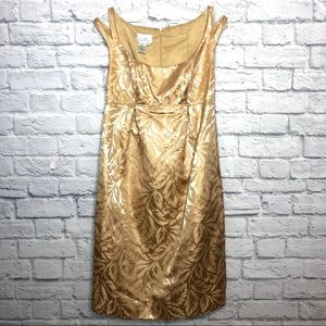 Donna Morgan Gold Midi Evening Dress